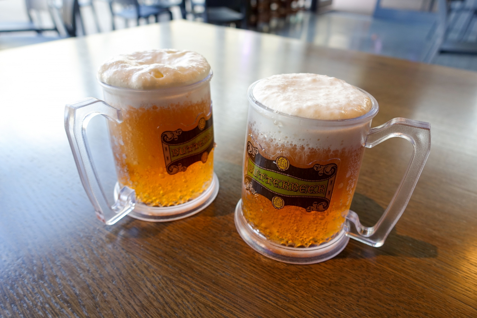 Mugs of butterbeer