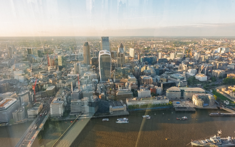 Daytime view from the Shard in London