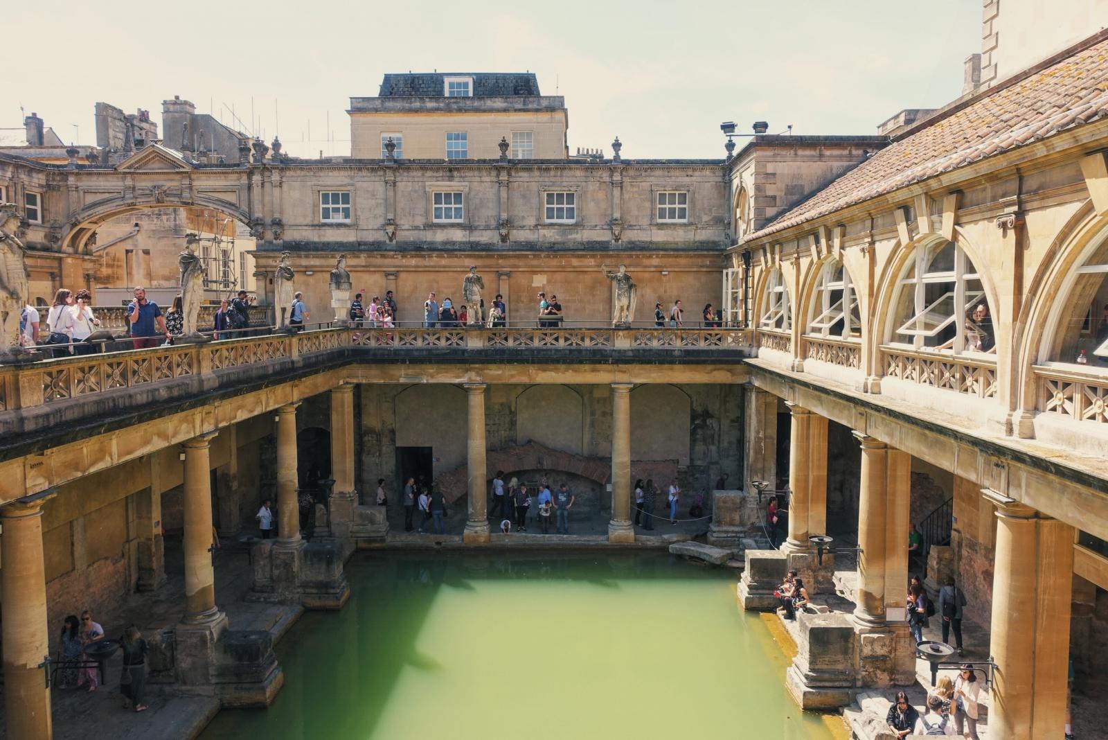 Terrace at Roman Baths museum