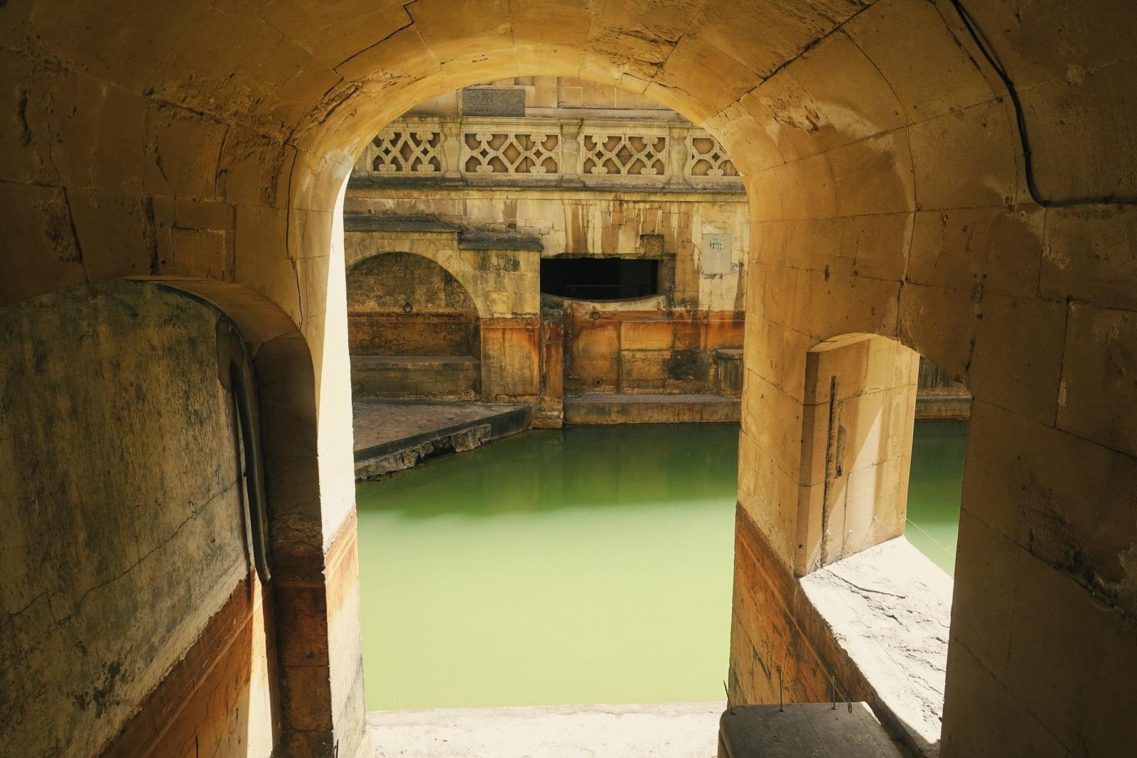 Sacred spring at Roman Baths museum