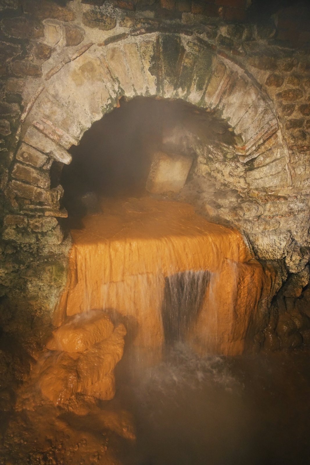 Sacred spring at Roman Baths museum