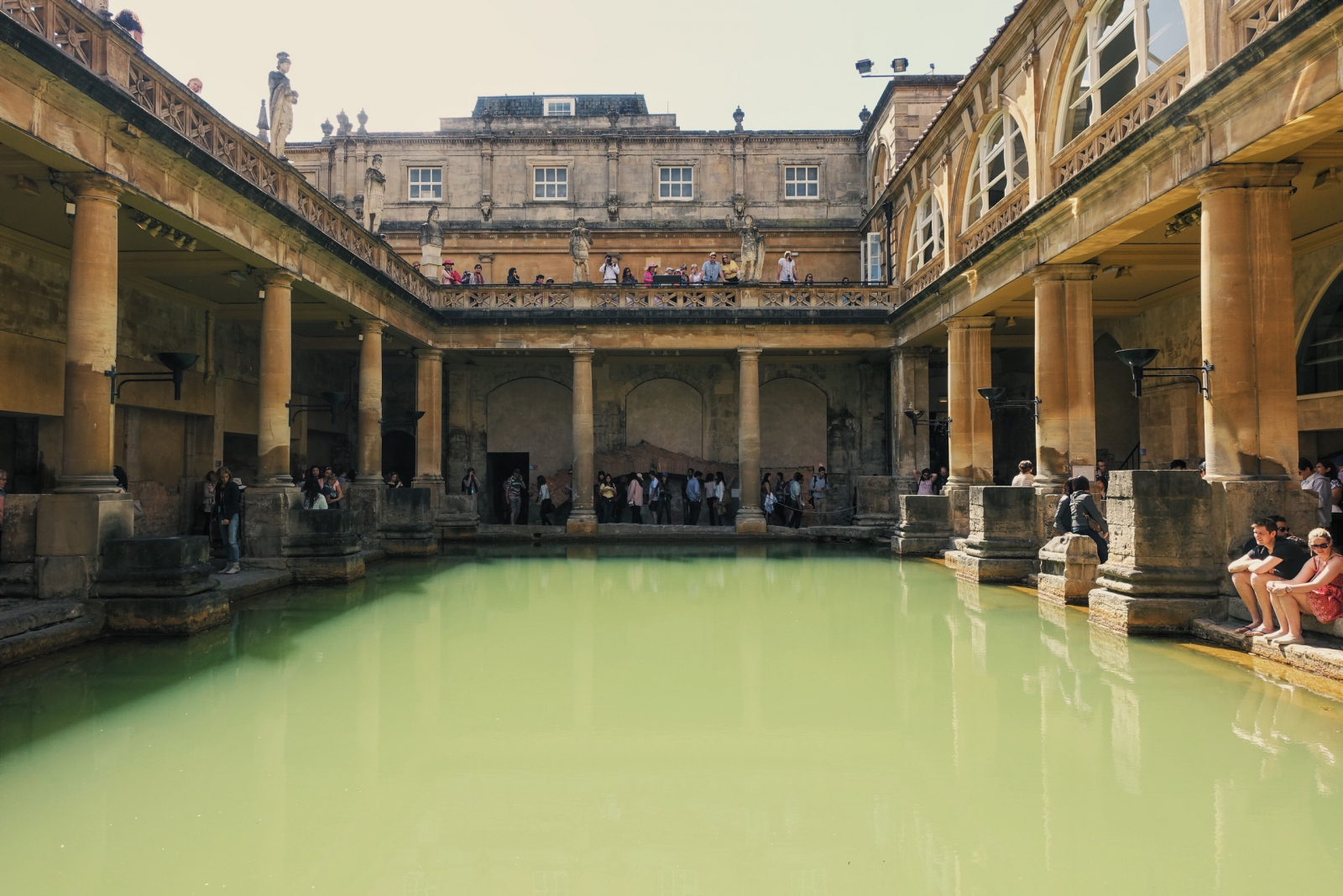 Great bath at Roman Baths museum