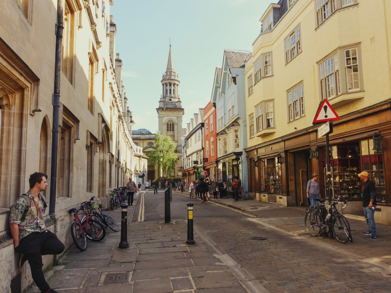 The streets of Oxford, England