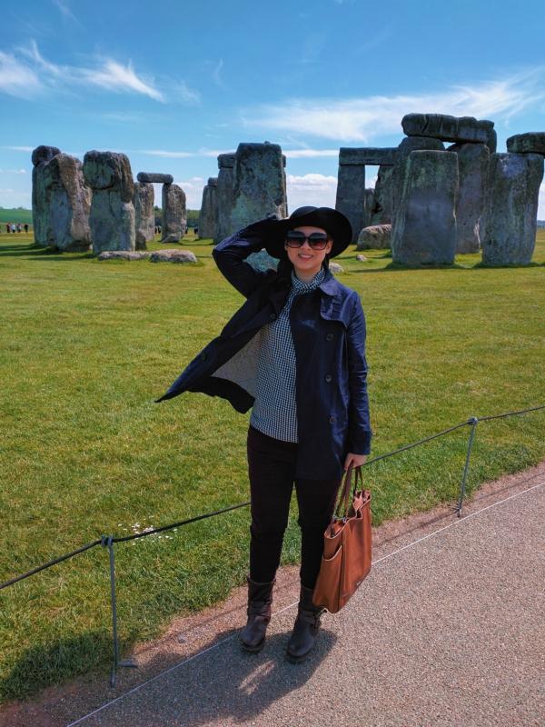 Me at Stonehenge, England