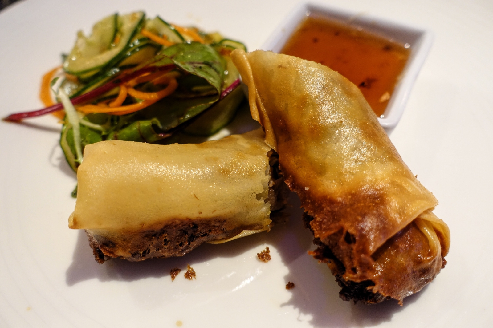 Duck confit spring rolls at Brigade in London