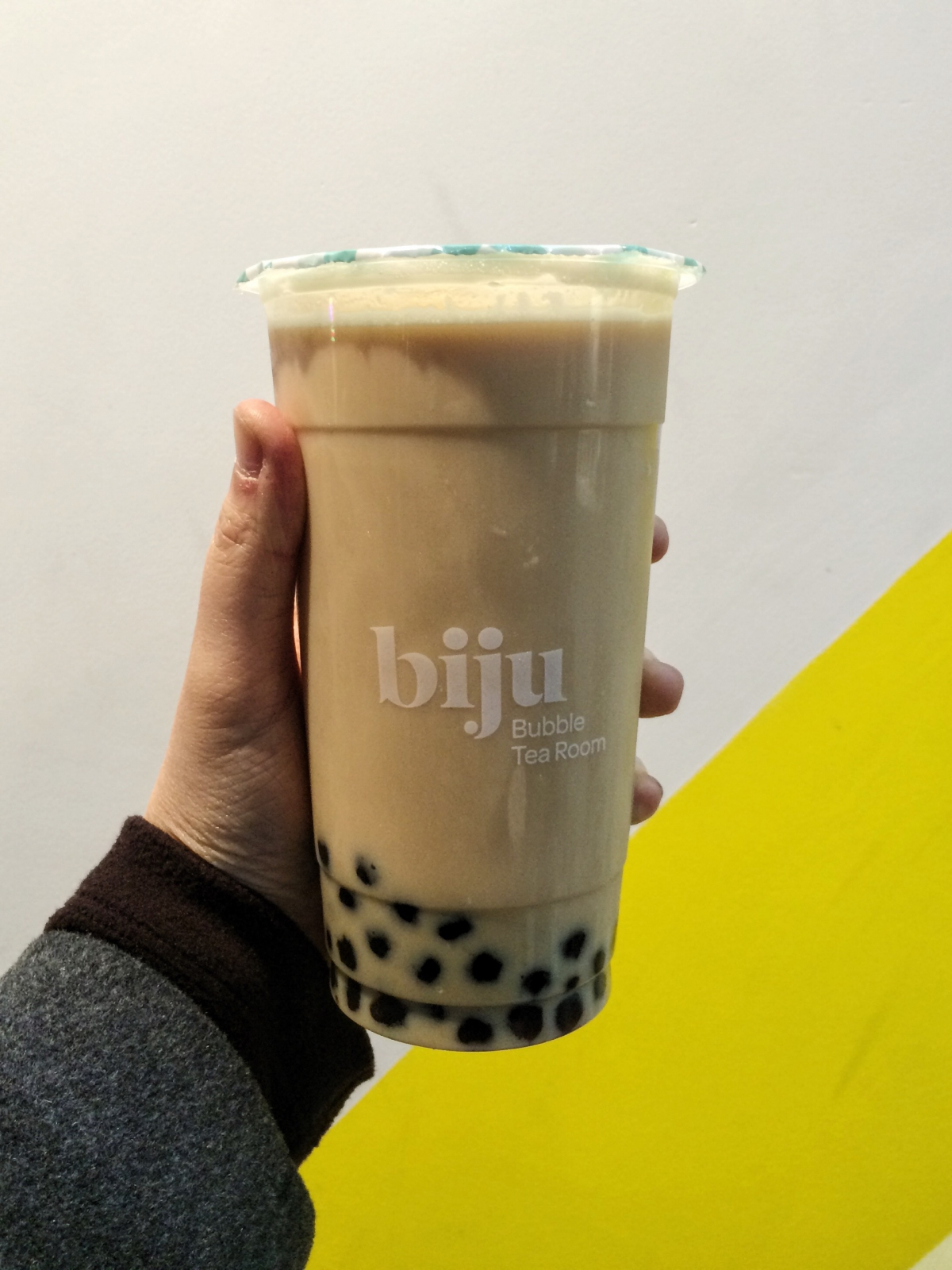 Biju assam milk tea with pearls