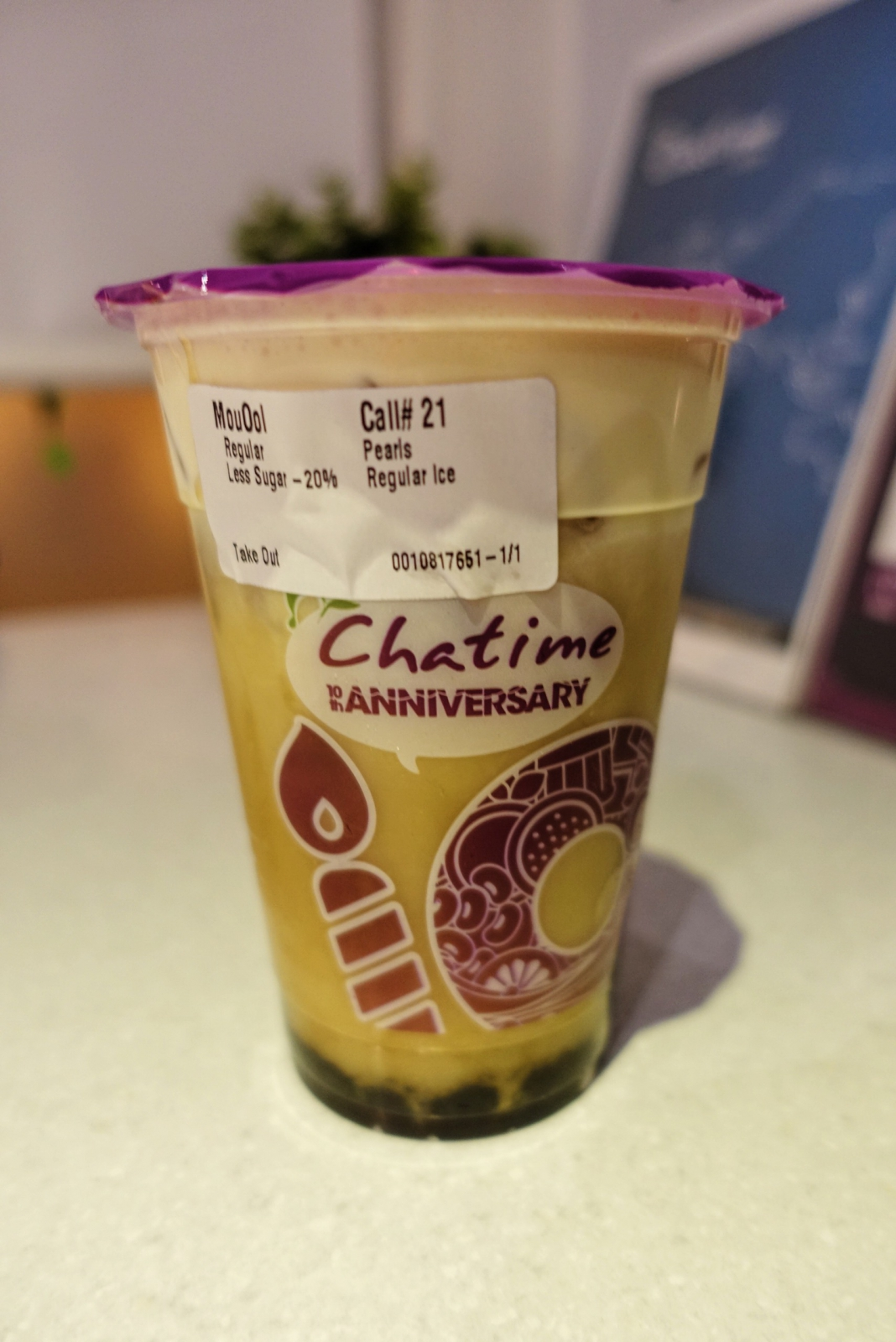 Chatime oolong tea mousse with pearls