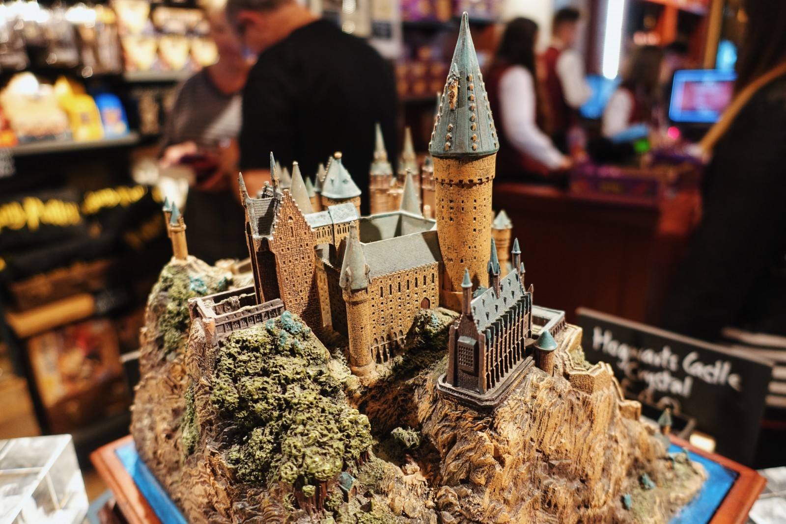 Hogwarts model at the Harry Potter Shop