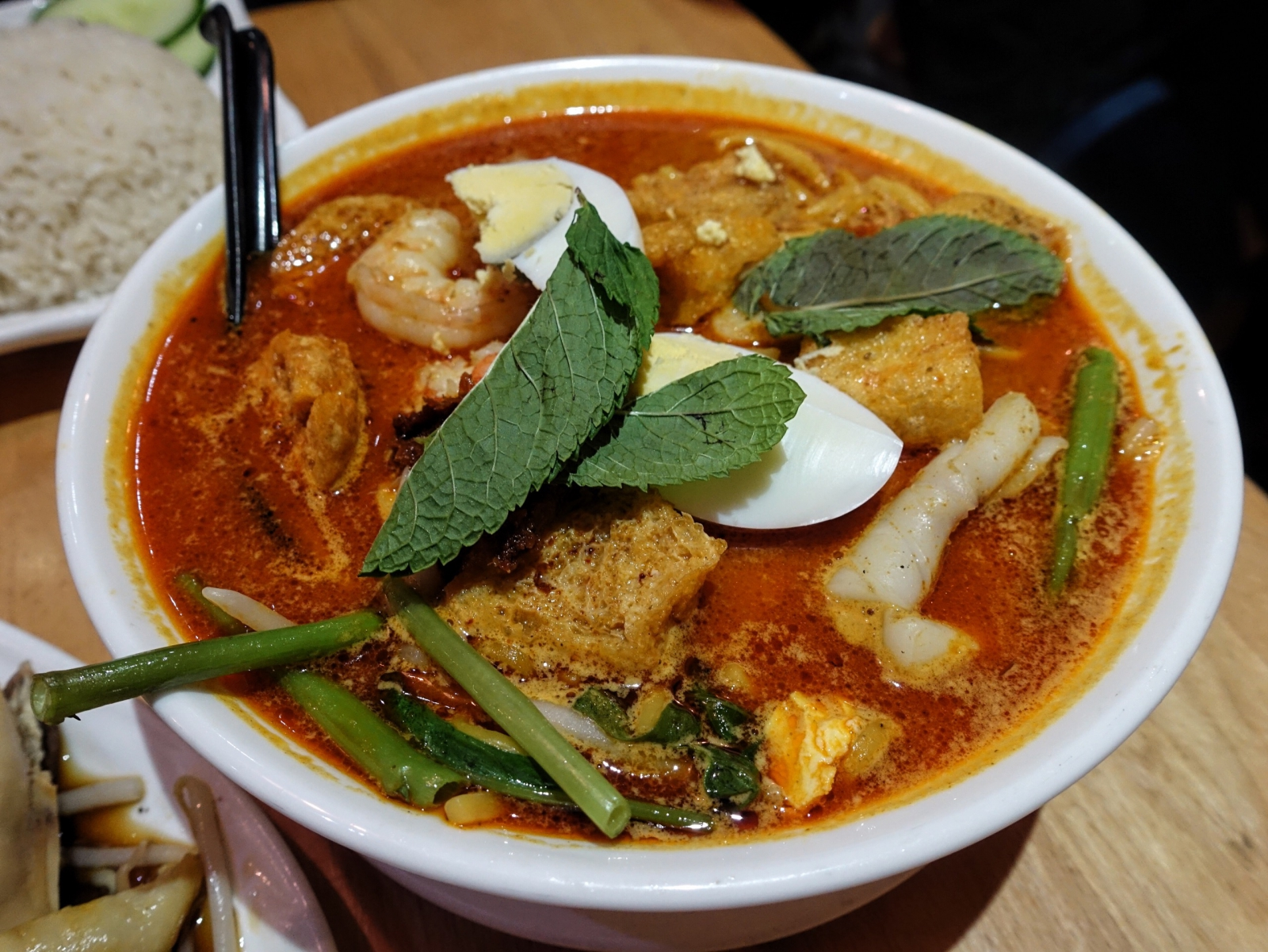 Curry laksa at Rasa Sayang in London