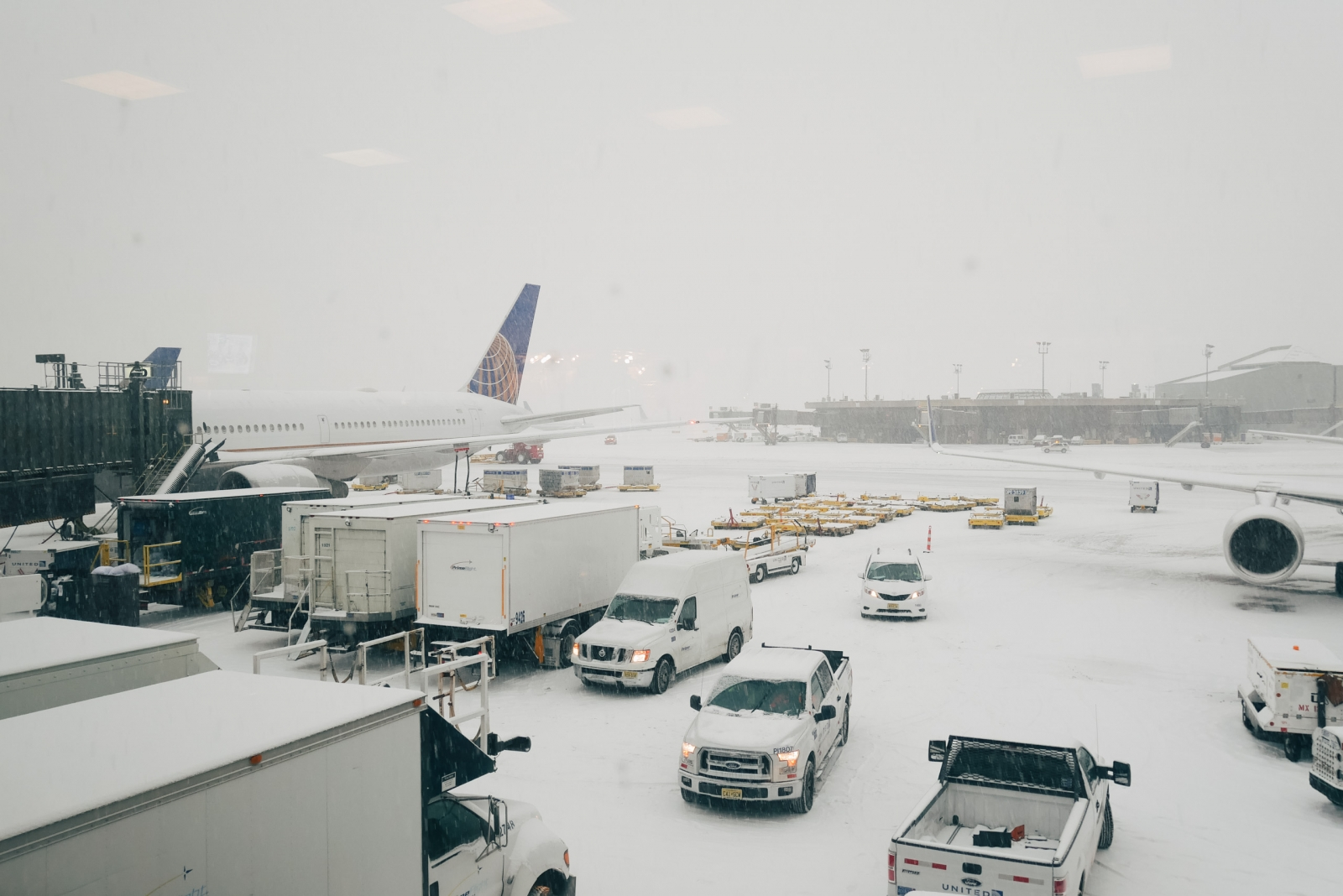 Snow at Newark Airport