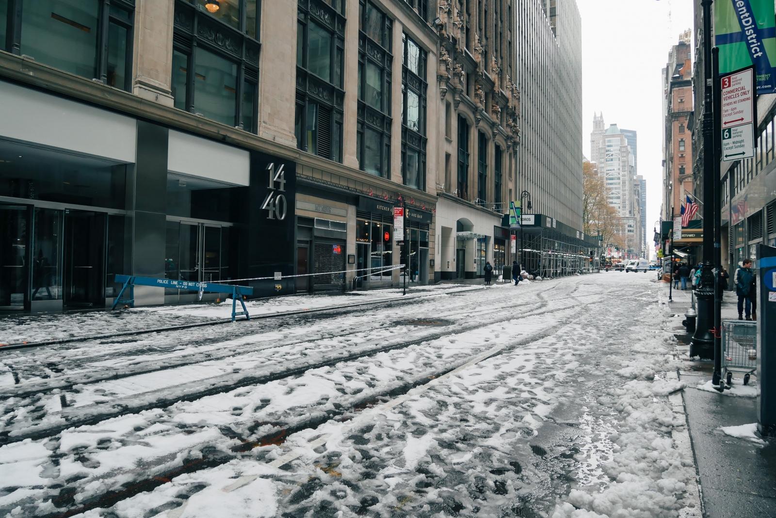 Slush on the streets of New York