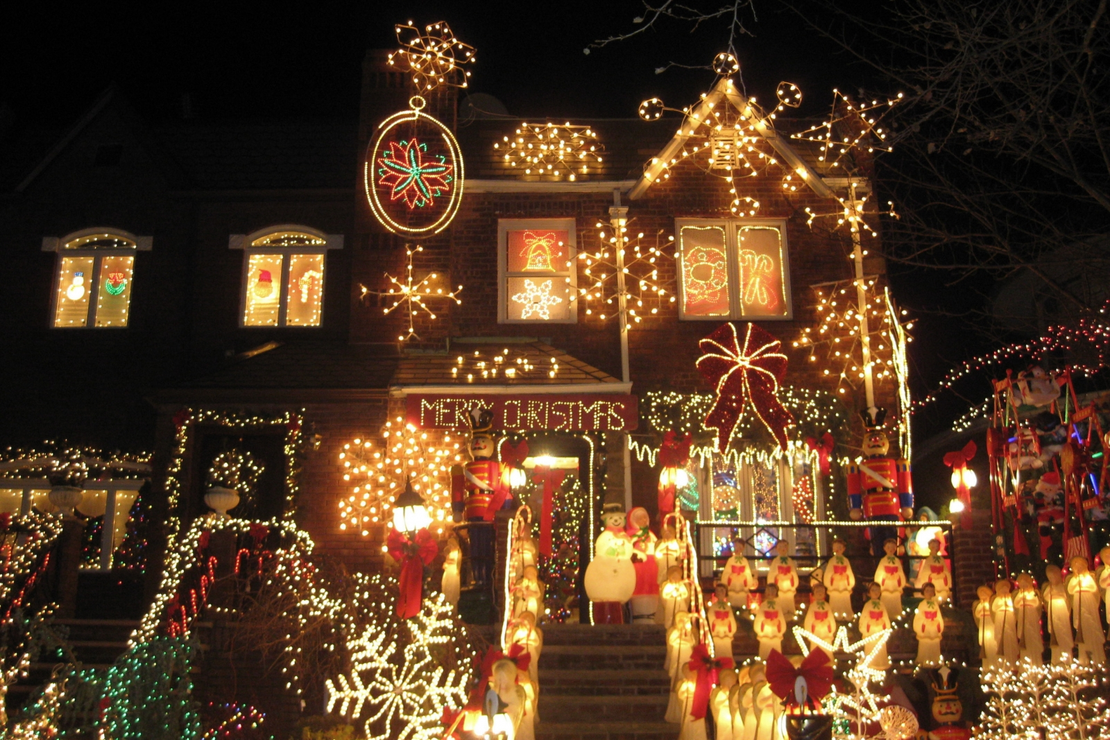Dyker Heights house with Christmas lights