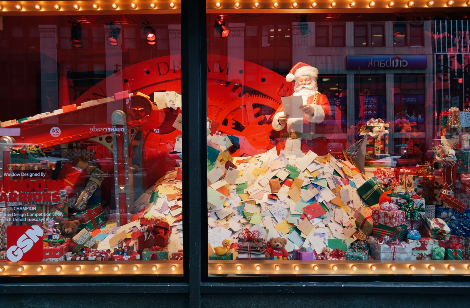 Holiday window at Macy's Herald Square