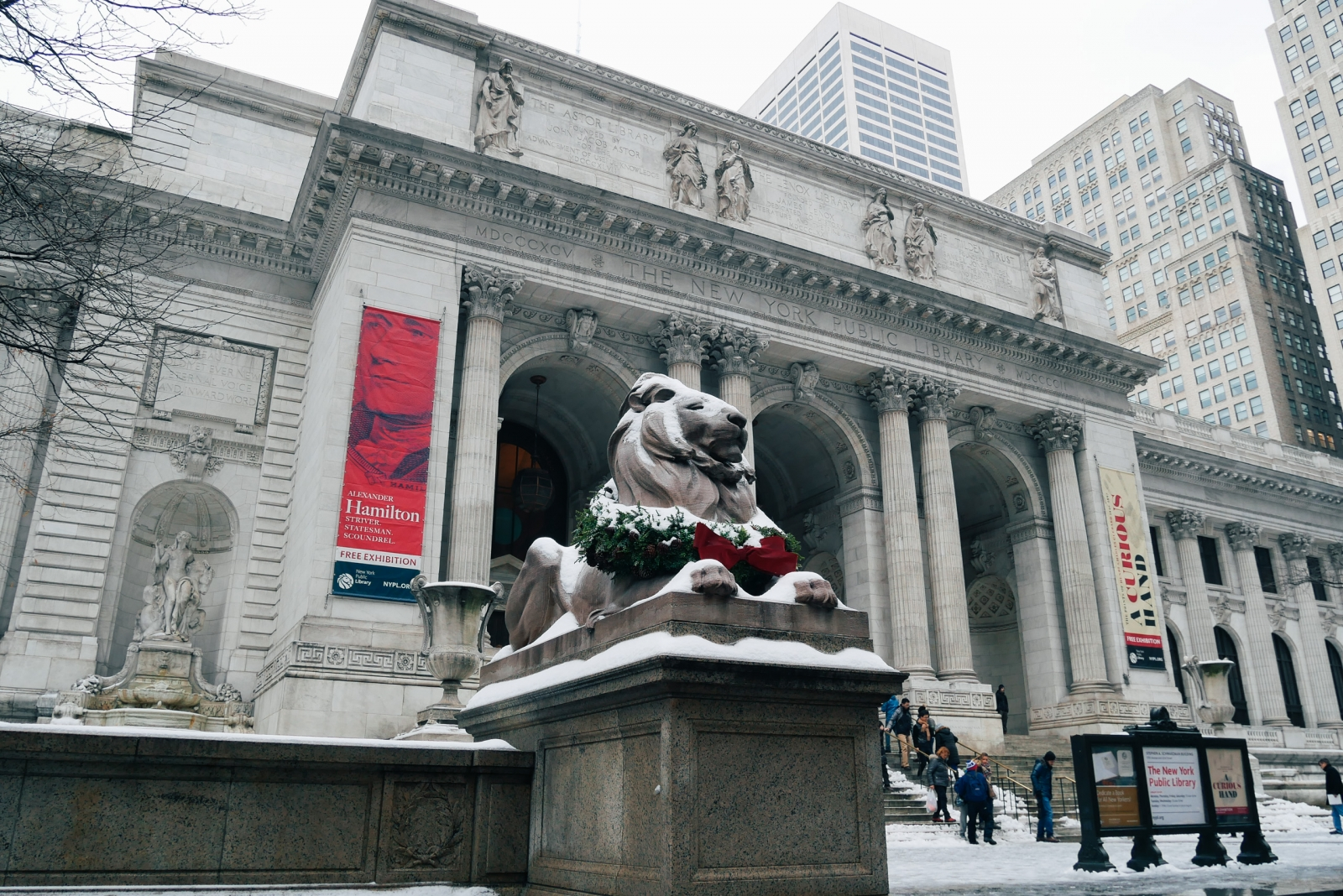 New York Public Library at Christmas
