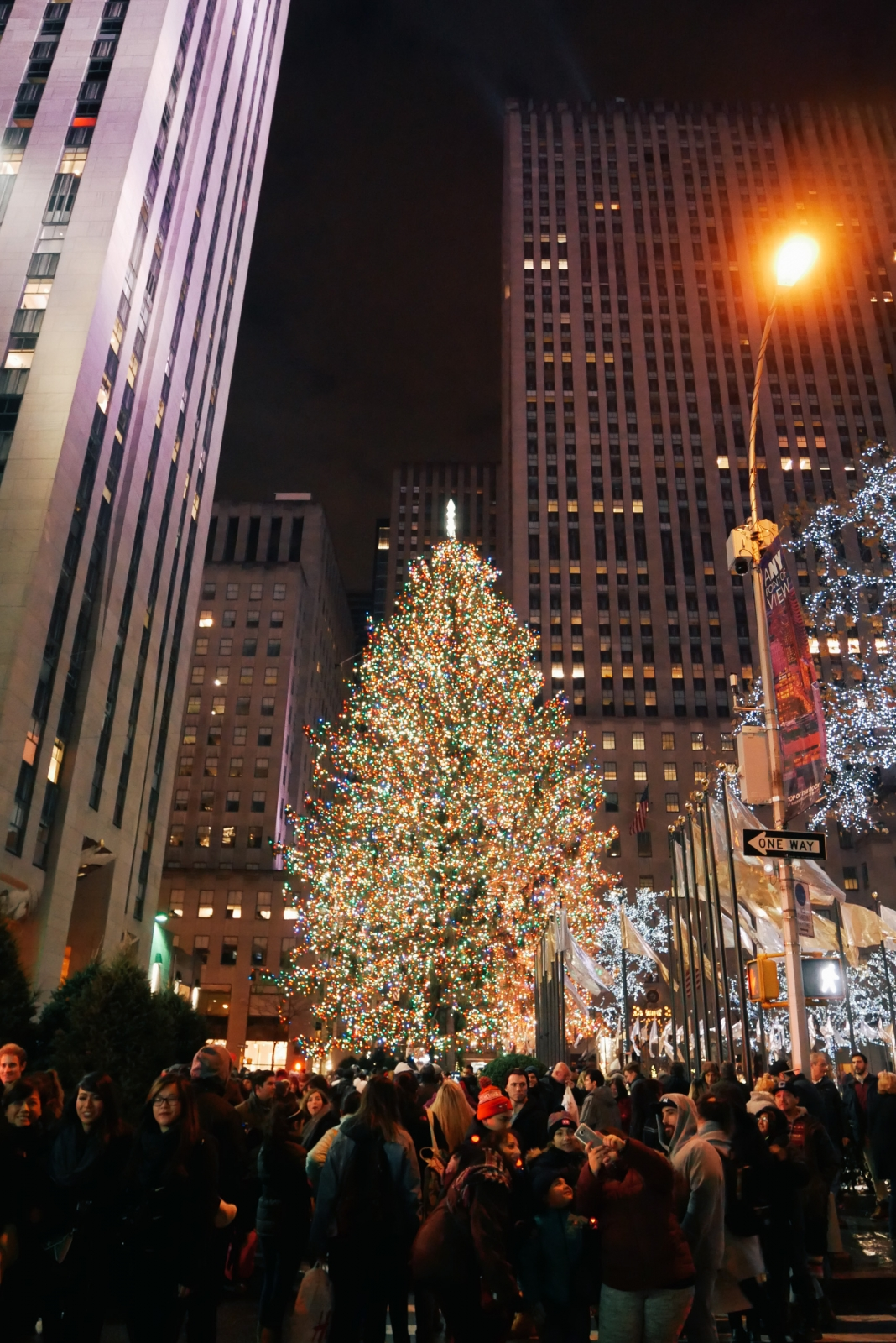 Rockefeller Center Christmas tree and its crowds
