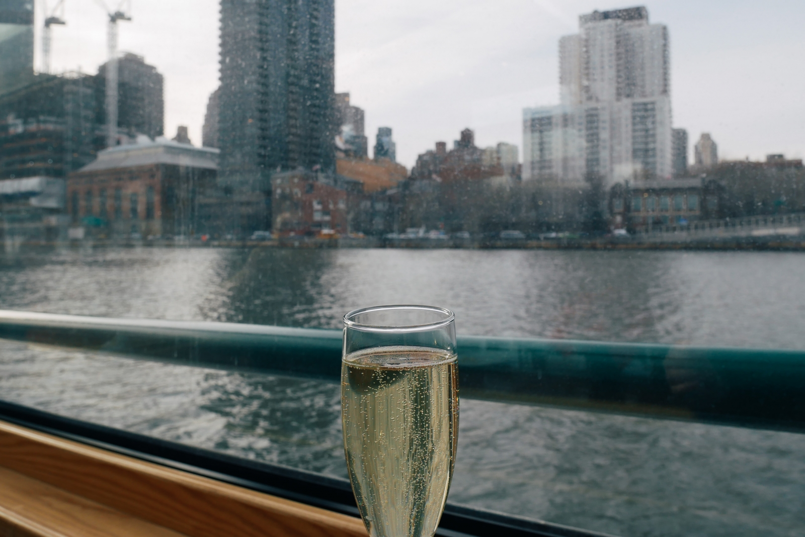 Champagne on a Manhattan cruise