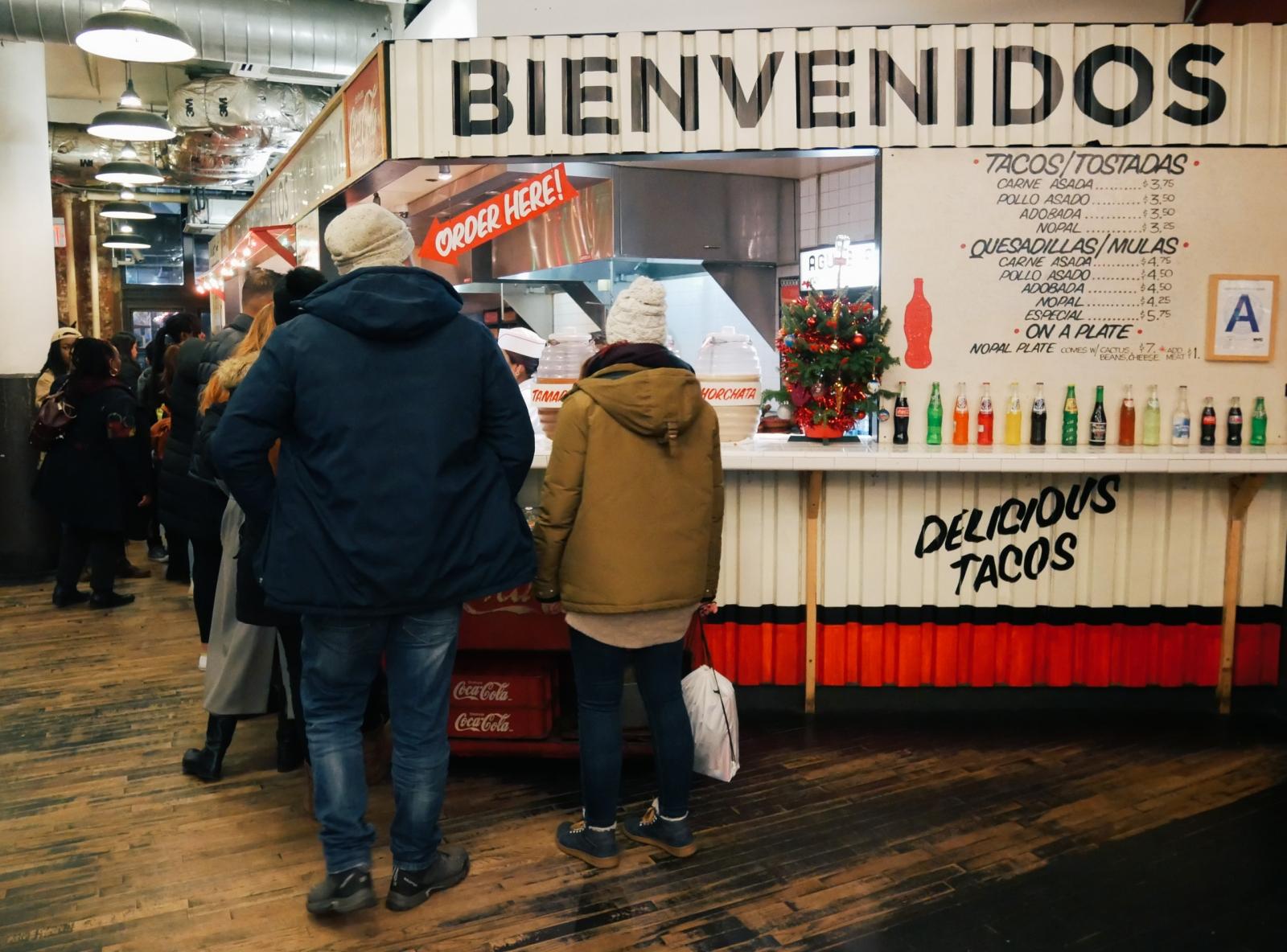 Chelsea Market taco stall