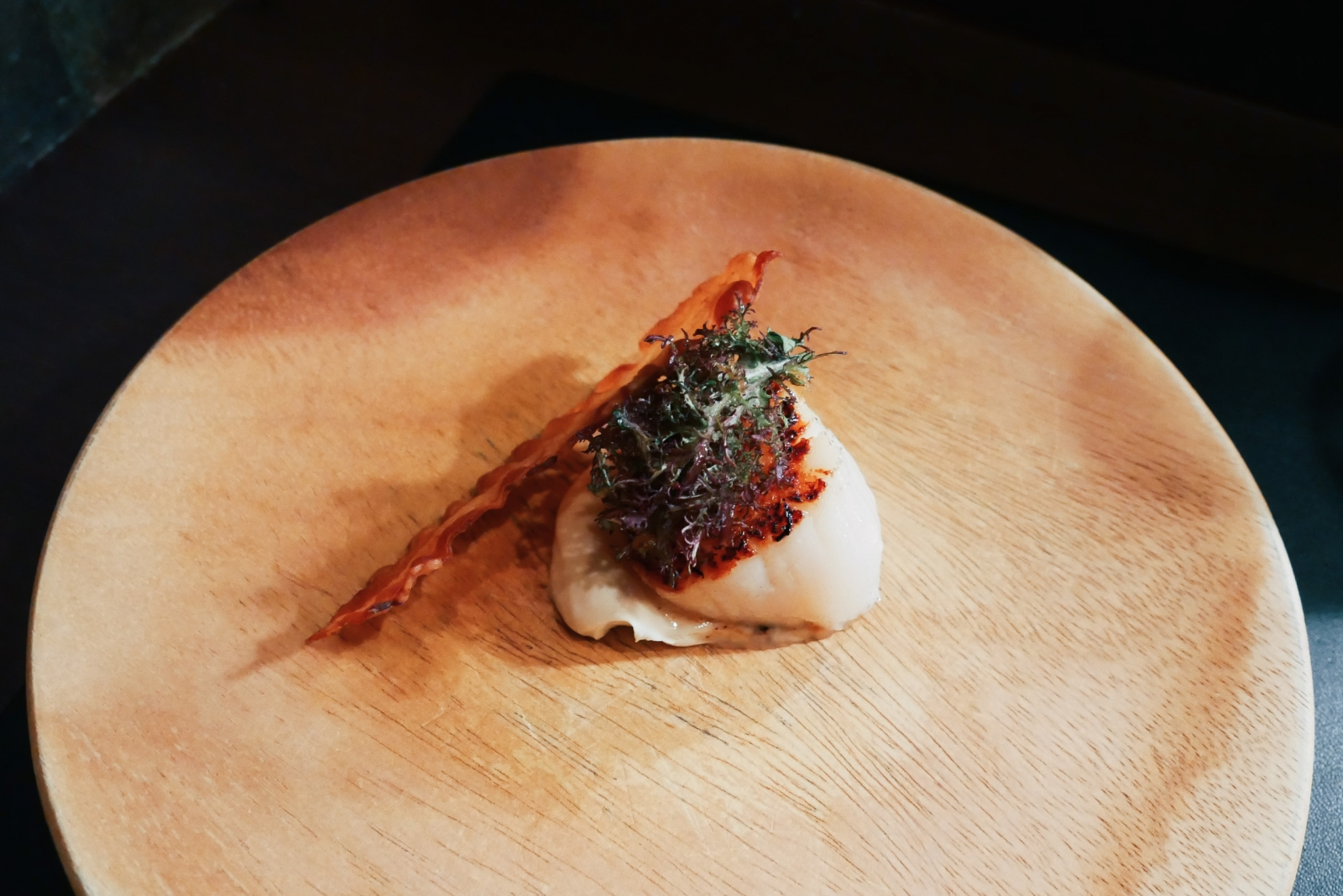 Degustation scallop and bacon